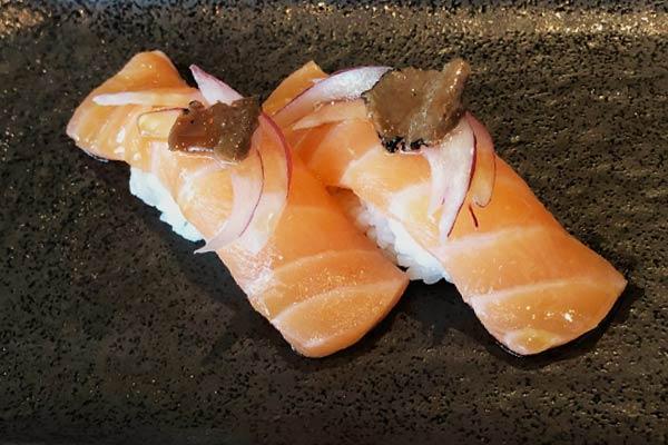 Salmon Truffle Sushi